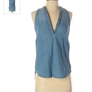 Armani Exchange Jean blouse size xs
